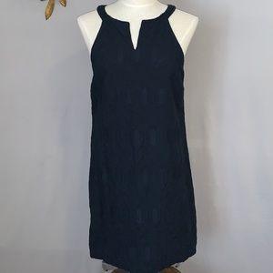 Banana Republic Navy Blue Eyelet Sheath Dress